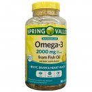 Spring Valley Omega-3 from Fish Oil 2000mg Eye/Brain & Heart Health 180 Softgels