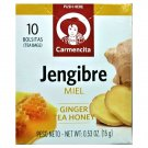 Carmencita Ginger Tea Honey / Jengibre with Miel (10 Tea Bags Box) 2 Boxes