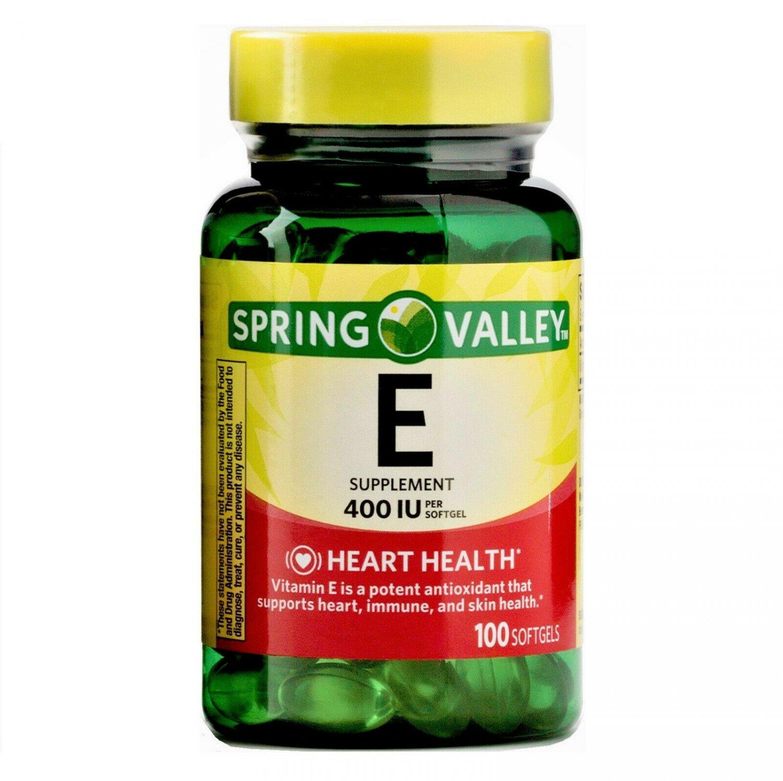 Spring Valley Vitamin E Heart Health 400 IU 100 Softgels