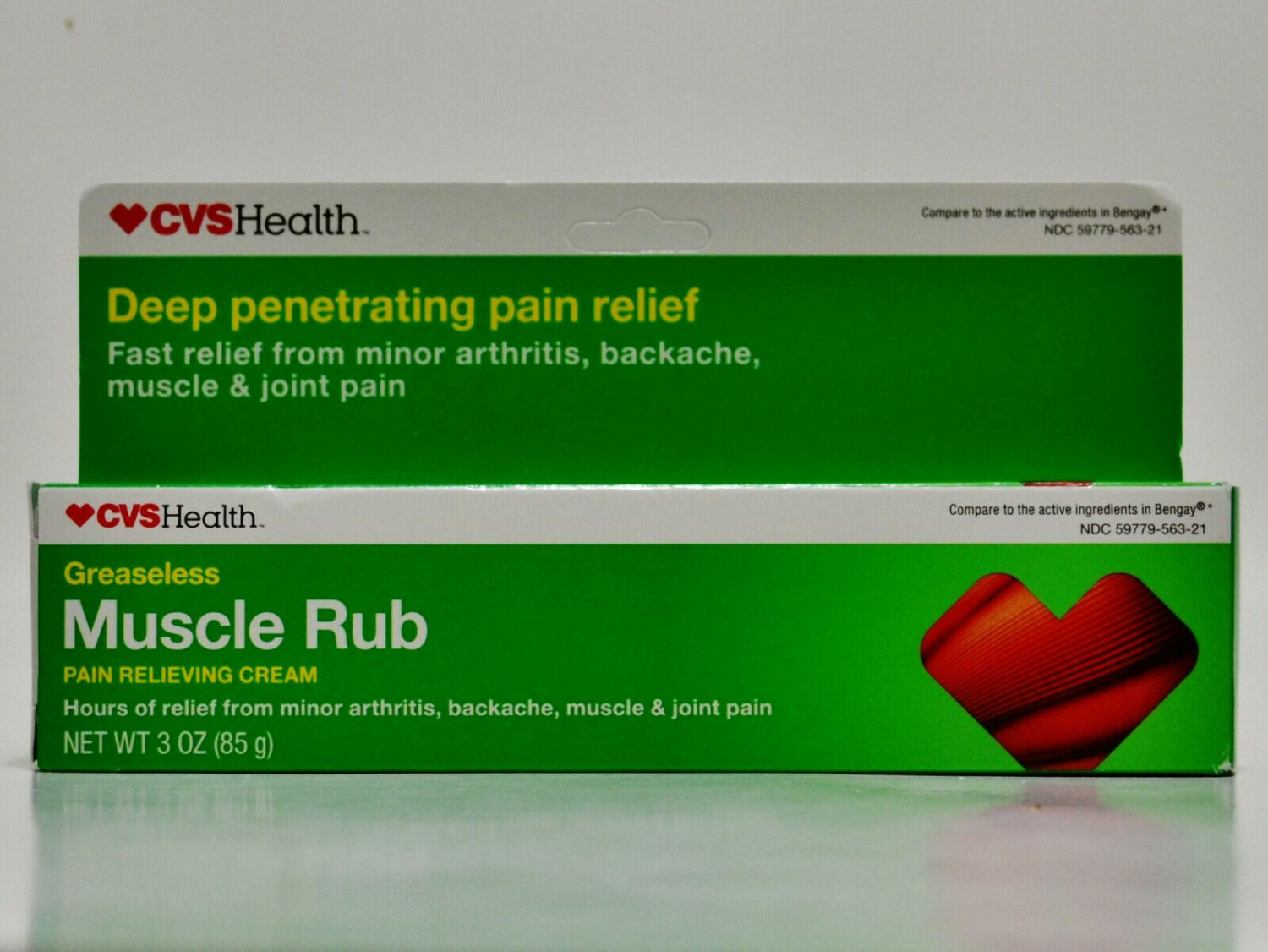 CVS Muscle Rub Pain Relieving Cream Topical Analgesic 3 oz