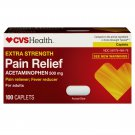 CVS Extra Strength Acetaminophen Pain Relief / Fever Reducer 500 mg 100 Caplets