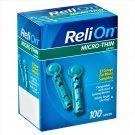 ReliOn Micro-Thin Lancets 100 Lancets 33 Gauge For Micro Sampling