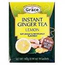 Grace Instant Ginger Tea Lemon Flavor 4.94 oz 14 Bags Box