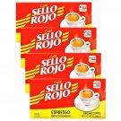 Sello Rojo 100 % Colombian Espresso Coffee 10 oz Brick 4 Bricks