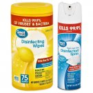 2 Great Value (1) 75 Disinfecting Wipes and (1) 17 Oz Disinfectant Spray
