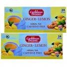 Caribbean Dreams Ginger-Lemon Tea Herbal / Tisane 24 Tea Bags Box 2 Boxes