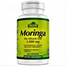 Alfa Vitamins Moringa The Miracle Tree Dietary Supplement 1000 mg 100 Capsules