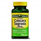 Spring Valley Whole Herb Cascara Sagrada Digestive Health 450mg 100 Capsules