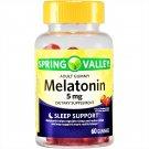 Spring Valley Melatonin Sleep Support Adult Gummies 5 mg 60 Gummies