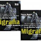 Tierra Madre Herbal Tea Blend Migrana Tension Headache 6 Bags Pack 2 Pack