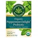 Traditional Medicinals Organic Peppermint Delight Probiotic Tea 16 Tea Bags
