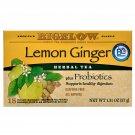 Bigelow Lemon Ginger Probiotics Herbal Tea (18 Tea Bags Pack) 2 Pack