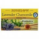 Bigelow Lavender Chamomile plus Probiotics Herbal Tea (18 Tea Bags Pack) 2 Pack