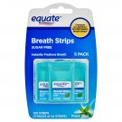 Equate Sugar Free Fresh Mint Breath Strips 120 Strips in 5 Pack