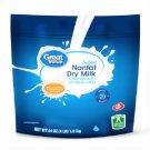 Great Value Instant Nonfat Dry Milk Vitamin A & D Calcium 64 oz Bag