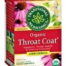 Organic Throat Coat Lemon Echinacea (16 Tea Bags Box) 2 Boxes