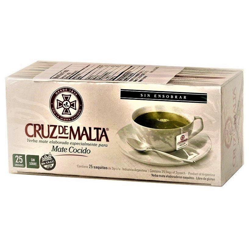 Cruz de Malta Mate Cocido - Instant Brew Mate Tea Bags 25 Tea Bags