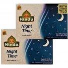 Night Time Herbal Tea Chamomile-Louisa-Linden-Lemon Balm-Mint 20 Bags Box 2 Boxes