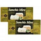 Sanchis Mirra Turron de Alicante (Nougat) Etiqueta Negra Calidad Suprema (7oz Bar) 2 Bars