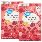 Great Value Strawberry Hibiscus Herbal Tea 1.41 Oz (20 Bags Box) 2 Boxes