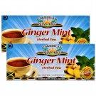Caribbean Sunshine Ginger Mint Herbal Tea (24 Bags Pack) 2 Pack