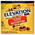 Elevation Cranberry Almond Protein Bar 10g Protein 1g sugar 5 Bars Box 2 Boxes