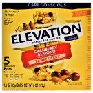 Elevation Cranberry Almond Protein Bar 10g Protein 1g sugar 5 Bars