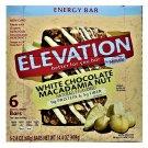 Elevation White Chocolate Macadamia Nut Protein Bar 9g Protein 6 Bars Box 2 Boxes