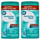 2 Great Value Fresh Scent Disinfecting Wipes (75 Wipes Pack) 150 Wipes in 2 Pack
