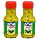 Goya Hot Pickled Green Peppers 6 Oz Bottle 2 Bottles