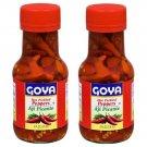 Goya Hot Pickled Red Peppers 6 Oz Bottle 2 Bottles