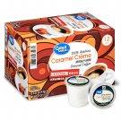 Great Value 100% Arabica Caramel Creme Medium Arabica Coffee (0.37oz 12 Pods Pack) 2 pack