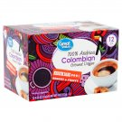 Great Value 100% Arabica Colombian Medium Dark Ground Coffee 0.33oz 12 Pods Pack