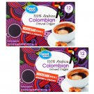 Great Value 100% Arabica Colombian Medium Dark Ground Coffee (0.33oz 12 Pods Pack) 2 Pack