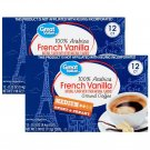 Great Value 100% Arabica French Vanilla Medium Ground Coffee (0.33oz 12 Pods Pack) 2 Pack