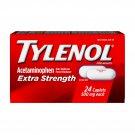 Tylenol Extra Strength 500mg Acetaminophen 24 Caplets