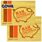 Goya Ham Flavored Seasoning 1.41 oz Sazon sabor a Jamon (8 Pack Box) 2 Boxes