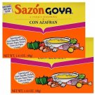 Sazon Goya with Saffron / Azafran 1.41 Oz (8 Pack Box) 2 Boxes