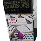 Double Twelve Dominoes 91 Color Dot Dominoes in Tin