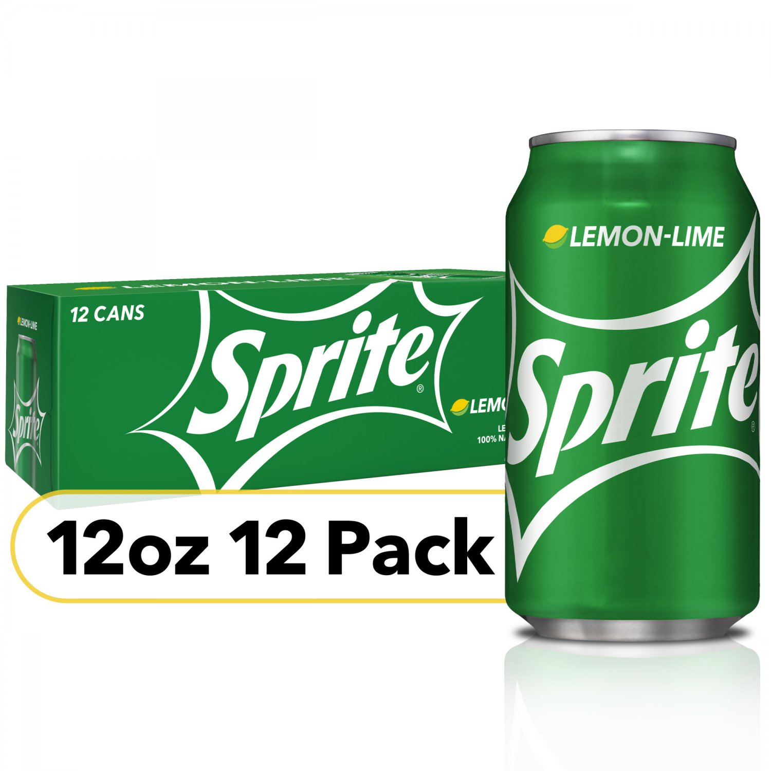 Sprite Lemon Lime Soda Soft Drinks (12oz Can) 12 Cans