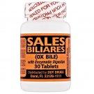 Sales Biliares OX Bile with Enzymatic Digestan 30 Tablets