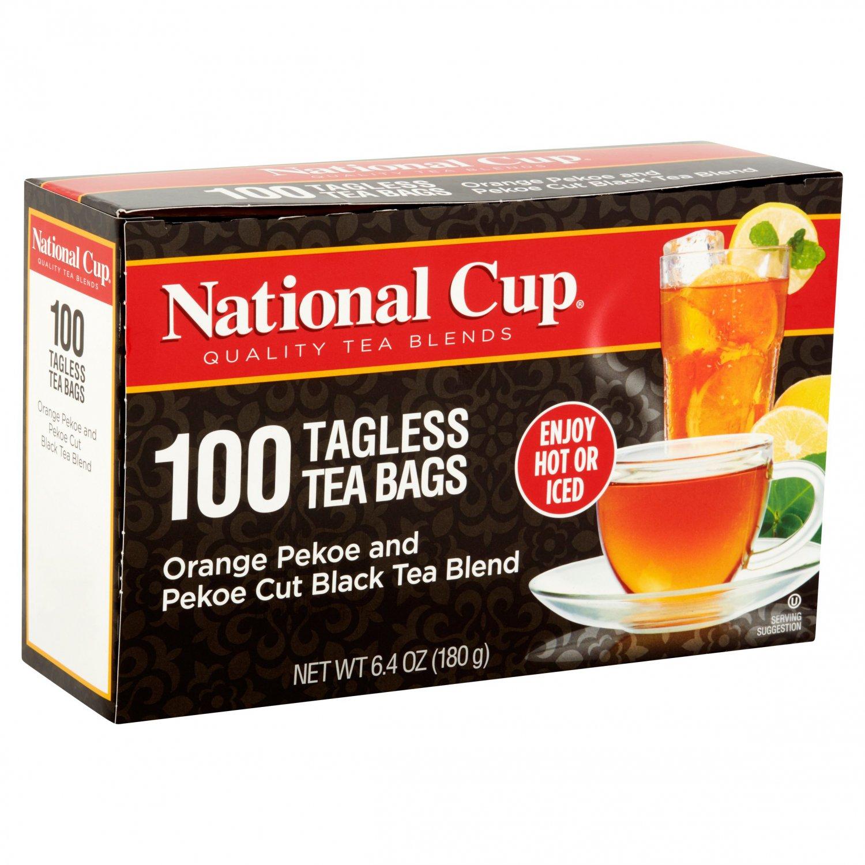National Cup Orange Pekoe and Pekoe Cut Black Tea Blend 100 Tea Bags