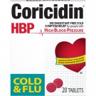 Coricidin HBP Cold & Flu Relief Tablets High Blood Pressure 20 Tablets