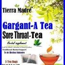 Tierra Madre Sore Throat Herbal Tea Blend Herbal Supplement 15 Tea Bags