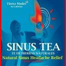 Tierra Madre Sinus Herbal Tea Headache Relief Herbal Supplement 15 Tea Bags