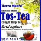 Tierra Madre Tos / Cough Help Herbal Tea Supplement 15 Tea Bags