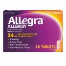 Allegra Adult 24 Hrs Allergy Relief 180 mg 15 Tablets