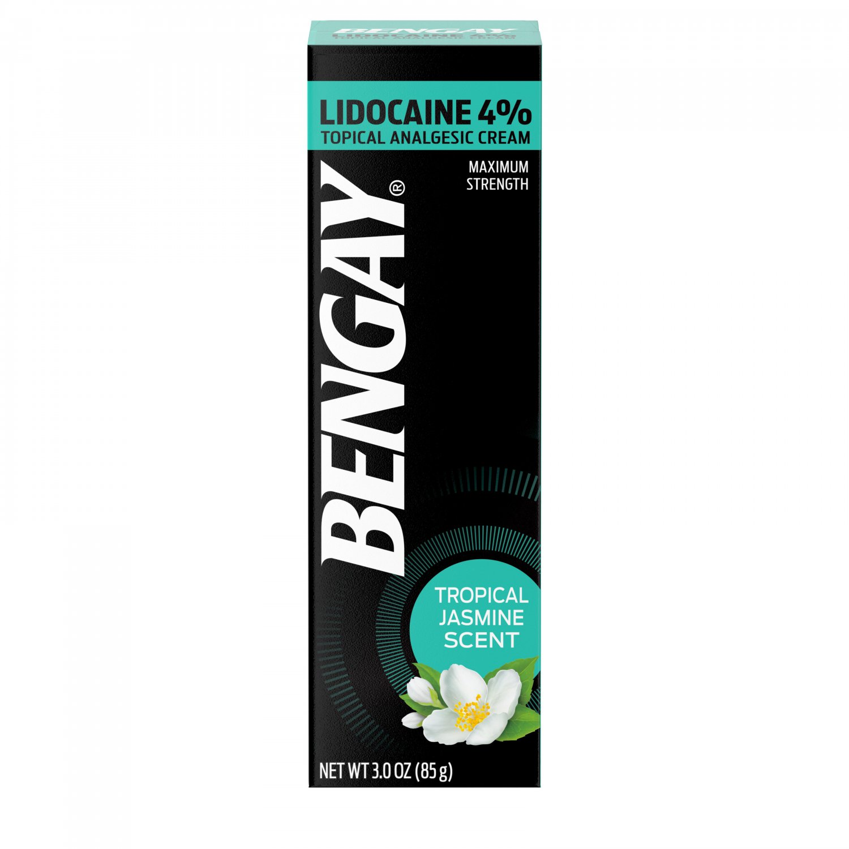 Bengay Pain Relieving Lidocaine Cream Tropical Jasmine 3 oz