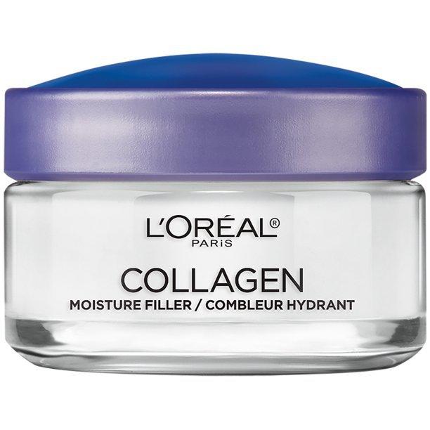 L'Oreal Paris Moisture Filler Facial Day Night Cream lightweight Collagen 1.7 oz