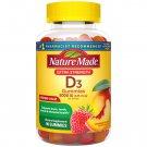 Nature Made Extra Strength Vitamin D3, 5000 IU (125 mcg) 90 Gummies